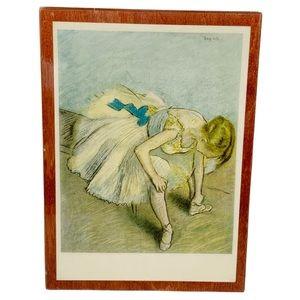 Vintage Degas Danseuse Assise decor plaque 4.5x6.5